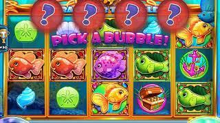 GOLD FISH RACE FOR THE GOLD Video Slot Casino Game with a BLUE FISH BONUS    BONUS