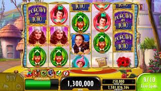 "WIZARD OF OZ DOROTHY & TOTO Video Slot Casino Game with a ""BIG WIN"" FREE SPIN BONUS"