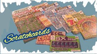 "EXCITING Scratchcard Game"" MONOPOLY ""WONDERLINES""MONEY SPINNER""RUBY 7s DOUBLER""BINGO""5X CASH""WIN £50"