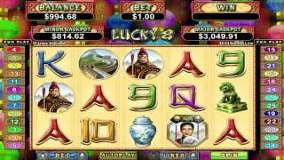 Lucky 8 slot machine by RTG   Game preview by Slotozilla