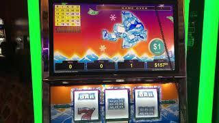 """VGT Slots Lucky Ducky Polar High Roller""""LIVE HANDPAY""""  Champaign Glass Bingo Pattern Choctaw, Durant"""