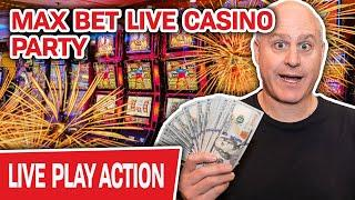My First Live Stream EVER from JOHNNY Z'S CASINO!  MAX BET SLOT MACHINE PARTY