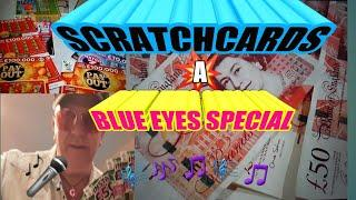 ••️Scratchcard••️ Special•..• Blue Eyes•.George•Our Fan club address is below says piggy•