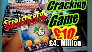 Cracking Scratchcard gamewith.Both MONOPOLY'S cards️£4.Million(£10)️& More?