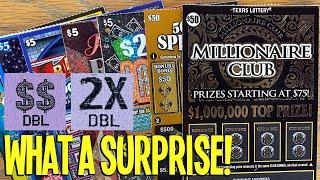 $50's vs $5's WHAT A SURPRISE!  $150 TEXAS LOTTERY Scratch Offs