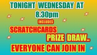 SCRATCHCARD PRIZE DRAW..GAME..VIEWERS CAN JOIN IN..