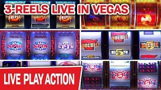OMG BACK LIVE IN VEGAS  ONLY High-Limit Slots, ONLY Three-Reel Machines