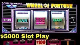 $5000 Live Play on Slots   $100 Wheel Of Fortune   High Limit Piggy Bankin Slot & More  