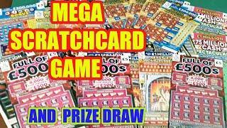 "MEGA SCRATCHCARD GAME and SCRATCHCARDS  PRIZES..RAFFLE""LIVE"