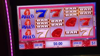 Ruby's Red Spin Polar High Roller Handpay Haywire assortment. Choctaw Gambling Casino, Durant, OK.