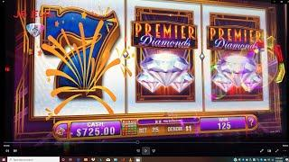 Premier Diamonds Jackpot MAX BET VGT Slots Choctaw & Winstar Play JB Elah Slot Channel How To USA