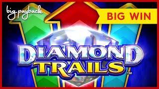 NEW KONAMI! Diamond Trails Ocean Winnings Slot - BIG WIN BONUS!