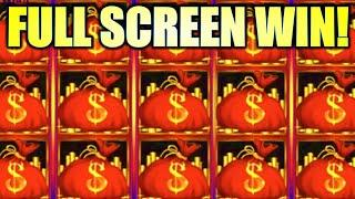 ALL THE MONEY BAGS! FULL SCREEN WIN! WEIRD WICKED & WILD Slot Machine (Aristocrat)