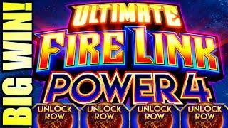 BIG WIN! POWER PLAY! NEW POWER 4 ULTIMATE FIRE LINK, POWER STRIKE, & POWER LINK Slot Machine (SG)