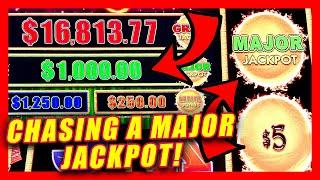 CHASING. A $1,000 MAJOR PROGRESSIVE  DRAGON LINK HUGE WINS! SLOT MACHINE WAS HOT!!
