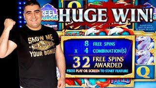 River Dragons Slot Machine HUGE WIN | Ultimate Fire Link Slot Machine Max Bet Bonus | Live Slot Play