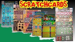 "CRACKER OF A GAME..£30 of Scratchcards ""MONOPOLY""WONDERLINES""CASHWORD""BINGO""CASH DROP""5X CASH"