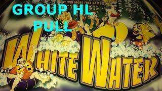 FUN GROUP HIGH LIMIT PLAY White Water $9 Bet Group Pull Aristocrat Slot Machine