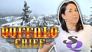 Slot Queen tackles the SNOW for some BIG FUN & BIG WIN !!
