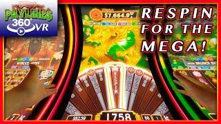 RE-SPINNING FOR A MAJOR JACKPOT!   REEL RICHES  DRAGON'S WEALTH  LIVE PLAY & BONUSES!  [360/VR]