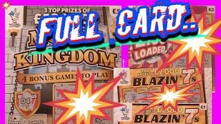"Full Card .....Scratchcards.....Loaded £100""s...BLAZIN'.7's..Money Kingdon..&.Big Daddy Card..."