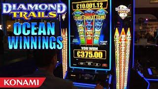 Diamond Trails Ocean Winnings Slot Machine from Konami