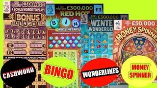 CASHWORD BONUS..REDHOT BINGO..MONEY SPINNER..WONDERLINES...& MORE