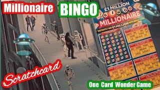 Millionaire Bingo...Scratchcard. One Card Wonder game