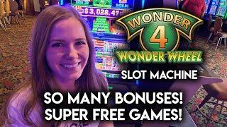 Wonder 4 Buffalo Gold! Pelican Pete and Timberwolf Deluxe! $11/Spin BONUSES!!