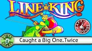 Line King slot machine, Caught the Big One Twice