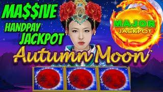 HIGH LIMIT Dragon Link Autumn Moon MASSIVE HANDPAY MAJOR JACKPOT $50 Bonus Round Slot EPIC COMEBACK