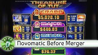 Treasure of Tut slot machine bonus with retriggers