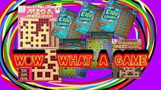 WOW!...Great GAME..2X CASH LINES...3X £100 LOADED...£1.MILLION MEGA CASHWORD....SCRABBLE CASHWORD
