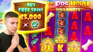 I DID €5000 DOG HOUSE MEGAWAYS BONUS BUYS (STICKY+RAINING) ft. Foss