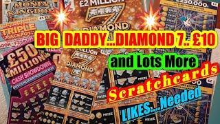 WOWDIAMOND (BIG DADDY)£10 Scratchcard.& more£50 MillionTriple Jackpot£250,000(LIKES)