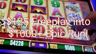 How to turn $125 Freeplay into $1000+ Cash$$ *Epic Run*Wonder 4 Wonder Wheel Buffalo Gold!