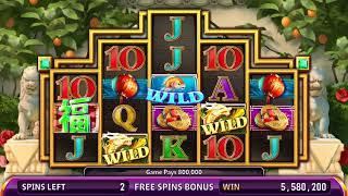 ZHU NI HAOYUN Video Slot Casino Game with a LUCKY FREE SPIN  BONUS