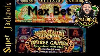 2 INCONCIeVABLe JACKPOTS! MAX BET! 2 GReAT SLOTS! MIGHTY CASH DOUBLe UP AND THe BAG SLOT EPIC!