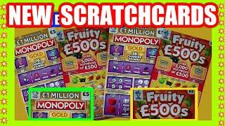 New Scratchcards..£1 MILLION MONOPOLY GOLD....&....FRUITY £500s..And other Scratchcards . mmmmmmMMM