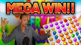 MEGA WIN!!! Fruit Party BIG WIN - Casino Slots from Casinodaddys live stream