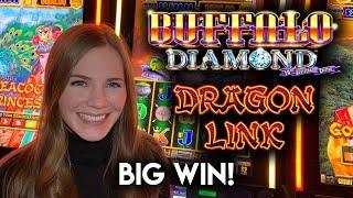 BIG WIN! Dragon Link Genghis Khan Slot Machine! Awesome Run of BONUSES!!