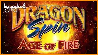 Dragon Spin Age of Fire Slot - ALMOST A FULL SCREEN OF WILDS!