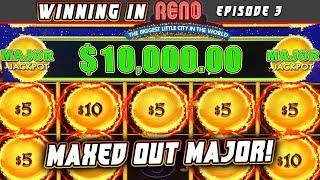 CHASING A $10,000 MAJOR JACKPOT ON DRAGON CASH HIGH LIMIT PART 1  WINNING IN RENO @ ATLANTIS