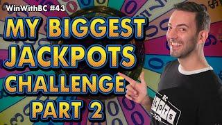 My BIGGEST JACKPOTS Challenge: Part 2  Up to $50 SPINS on Wheel of Fortune & Cleo II