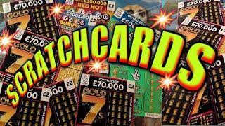 """REDHOT BINGO""""£500,000 JP GREEN"""".BINGO BONUS""""..GOLD 7s..SCRATCHCARDS..& UPDATE..HOW MUCH DID WE WIN?"""