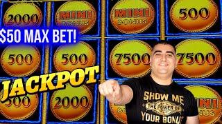$50 Max Bet JACKPOT HANDPAY On Lightning Link Slot   Winning On Slots At Casino !