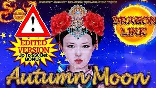 High Limit Dragon Link Slot Machine Bonuses !  Up To $50 Bet!! Live High Limit Slot Action
