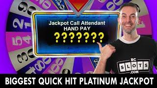 My BIGGEST  Quick Hit  Platinum JACKPOT from the Casino!