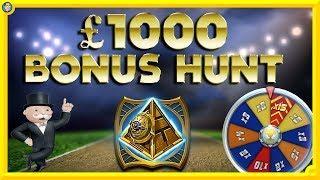 £1000 BONUS HUNT: Wild Derby, Montezuma Megaways, Monopoly Megaways & MORE!!!