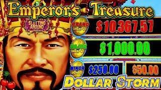 New Slot! Dollar Storm Emperor's Treasure.. Getting some Golden Balls